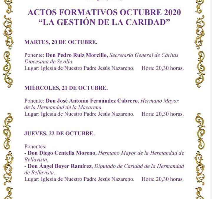 Actos formativos octubre 2020